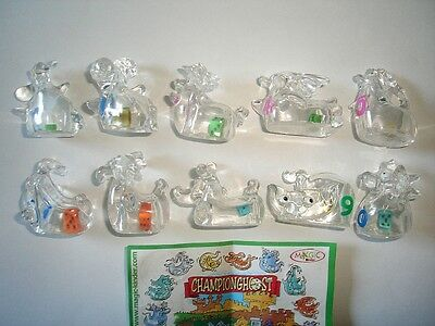 Kinder Surprise Set - Championghost Ghosts With Dice Mixed Colours Figures Toys