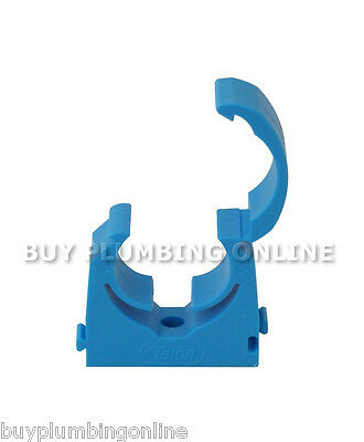 Talon 25-27.4mm MDPE Hinged Clip Blue Pack 20 TMS25/20