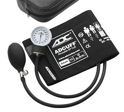 Adc Blood Pressure Monitor Aneroid Sphygmomanometer 760-12Xbk Large Adult Cuff