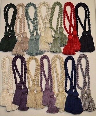 """Curtain & Chair Tie Back -28""""spread with 3.5""""tassels - 14 colors to choose from!"""