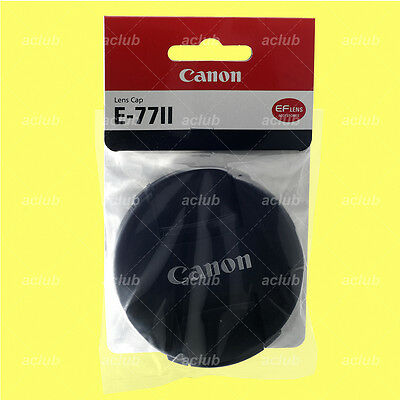 Genuine Canon E-77II Front Lens Cap 77mm Lens Dust Cover Protector E-77 II