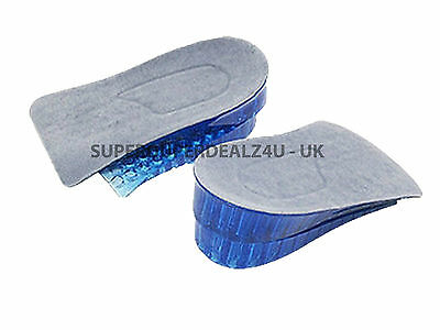 Unisex Honeycomb Gel Heel Lifts Height Increase Insoles Shoe Inserts Pads Raise