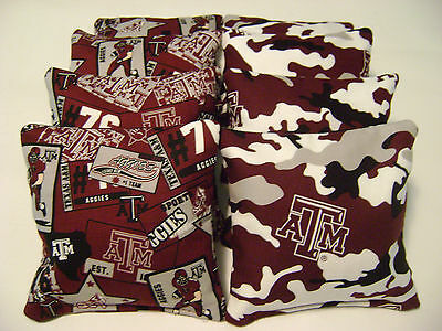 Awe Inspiring 8 Cornhole Bean Bag Baggo Texas Am Aggies Tailgate Toss Ibusinesslaw Wood Chair Design Ideas Ibusinesslaworg