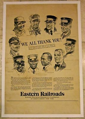Reduced 140!!  Eastern Railroads President's Conference -Lb Advertising Poster
