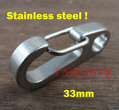 Normal polishing CNC Stainless steel EDC Key Chain Snap Hook Clip 1.3""