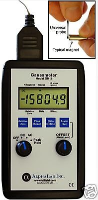 Dc/ac Gaussmeter Model Gm2 High Gauss Reading Meter