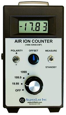Air Ion Counter Meter  Reading +/- Air Ions Densities
