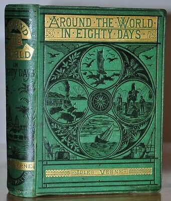 AROUND THE WORLD IN EIGHTY DAYS~JULES VERNE~1ST ED THUS~SAMSON LOW