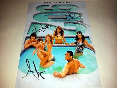 """90210 CAST X3 PP SIGNED 12""""X8"""" POSTER SHENAE GRIMES Beverly Hills"""