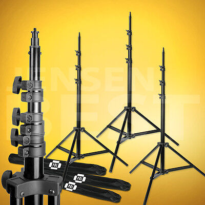 3 Air Cushioned  8ft Light Stands Photography Video Studio Lighting Stands