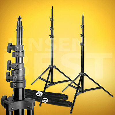 PBL 8ft Air Cushioned Photography Video Studio Lighting Stands Set of 2