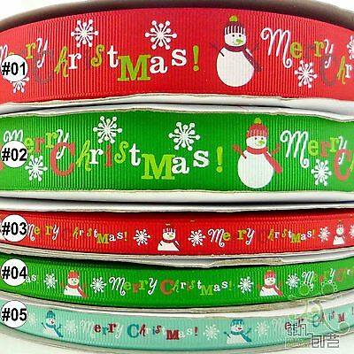 "3/8""9mm &1""25mm mixed colors christmas grosgrain ribbon craft sewing U pick"