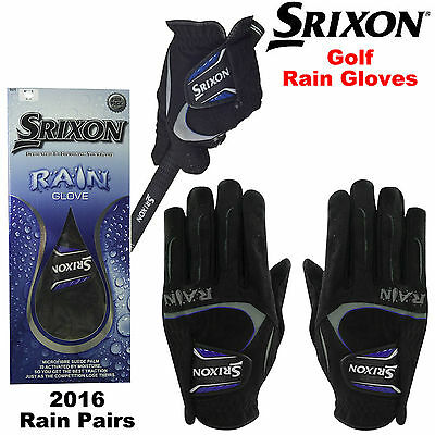Srixon Rain Golf Gloves Wet Grip Weather Gloves Pairs Microfibre Non Slip New