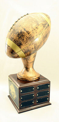 12 YEAR PERPETUAL FANTASY FOOTBALL TROPHY- FREE ENGRAVING!!! SHIPS IN 1 DAY!!