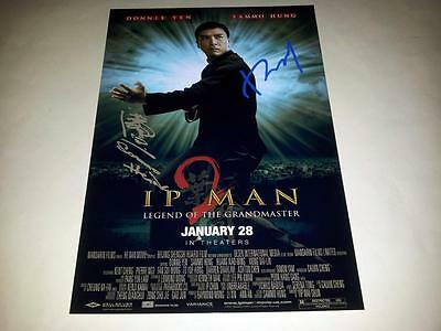 """Yip Man 2 Cast X2 Pp Signed Poster 12""""x8"""" Donnie Yen Sammo Hung Ip"""