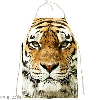 RARE The Mighty Tiger Face Full Print Apron