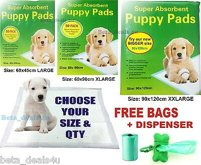 Dog Training Pads Puppy Pet Cat Trainer Pee Wee  Mats Disposable Large Extra Big