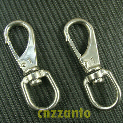 "1# 3.45"" 304 # Stainless steel  Boat snap hook eye swivel SS037"