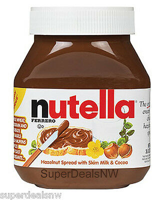 Large Nutella by Ferrero Hazelnut Spread w/ Skim Milk & Cocoa, 26.5oz containers