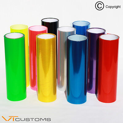 Light Car Tint Headlight Taillight Vehicle 【All Colours】 Light Transparent Vinyl