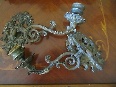 Rare 19th Century French Bronze Candle Sconces