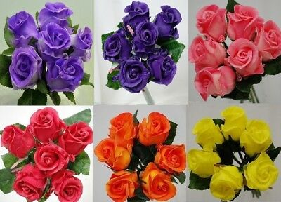 Latex Real Touch Rose Roses Pre Made Bouquets Wedding Bridal Bouquet Artificial