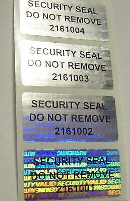 100 SVAG SSDNR#  Tamper Evident Warranty Void Labels Sticker Seals