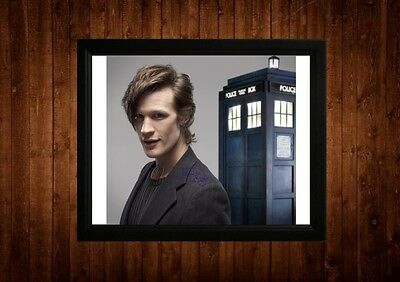 Matt Smith Signed Framed Pp A4 Print Gift Ideas Dr Who