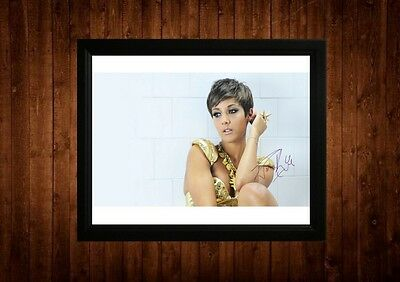 Frankie Sandford Signed Framed Pp A4 Print Gift Ideas The Saturdays