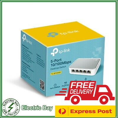 TP-Link TL-SF1005D 5 Port 10/100Mbps Unmanaged Ethernet Network Desktop Switch