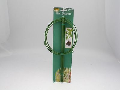 30 x metal wire plastic coated plant suport stakes 14cm wide x 28cm tall