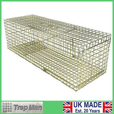 """CAT TRAP 31"""" long feral cat trap UK made CAT CAGE trap by TrapMan cat trap WIRE"""