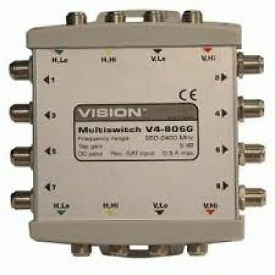 Vision Cascadable Multiswitch V4-806G 4 in 8 out
