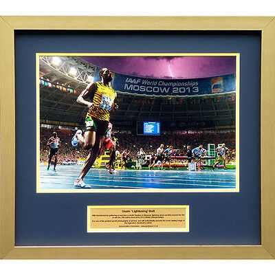 Usain 'Lightening' Bolt – Large special edition presentation