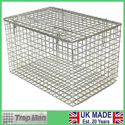 Cat carrier STURDY WIRE cat basket rabbit carrier rodent UK Made by TrapMan