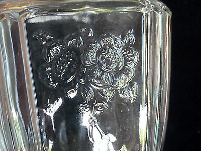 Mayfair pitcher - clear glass - Open Rose pattern - depression glass