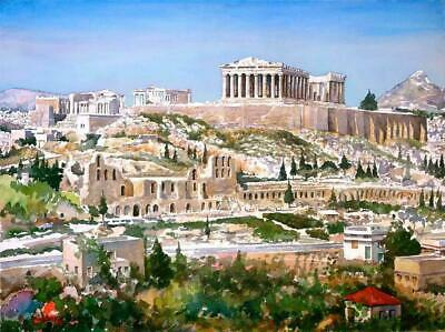 ACROPOLIS OF ATHENS GREECE GLOSSY POSTER PICTURE PHOTO greek citadel ancient 156
