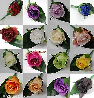 1X Wedding Flower Silk Groom Rose Roses Button Hole Artificial Weddings Flowers