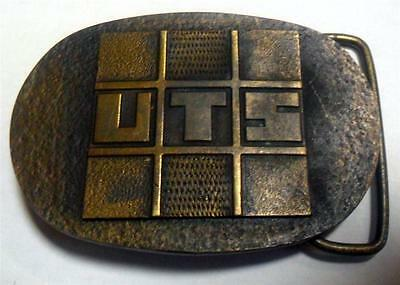 Vintage HTF Solid Bronze? U.T.S. Belt Buckle by MPA NICE Condition LOOK SP