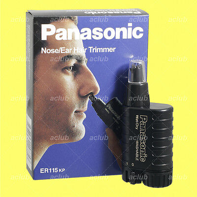 Panasonic ER-115 Nose Ear Hair Trimmer Clipper Wet Dry Washable Battery Operated
