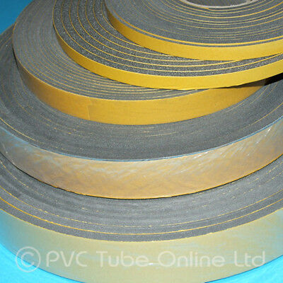 Single Sided Foam Tape Self Adhesive Extra Sticky Backed Gasket Seal Window Car