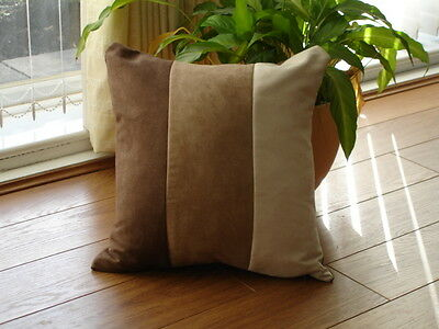 Super soft faux striped suede cushion covers