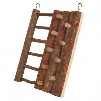 Trixie Natural wooden Hanging Climbing Wall ladder Hamster Gerbil Mice Degu Cage