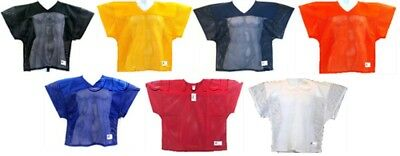 Football Practice Jersey Over Shoulder Pads V Neck Mesh Youth Russell Athletic