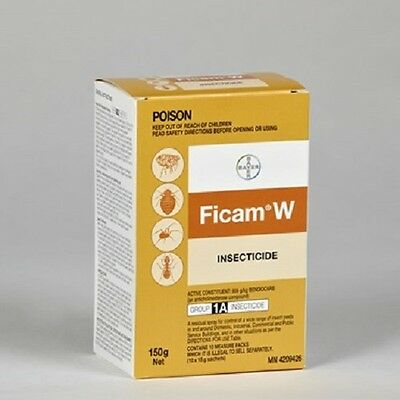 Ficam Wettable Powder Insecticide 150g-cockroach spider ants pest bug