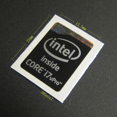 Haswell Extreme Refresh Version 10x Intel Core i7 Sticker 15.5mm x 21mm