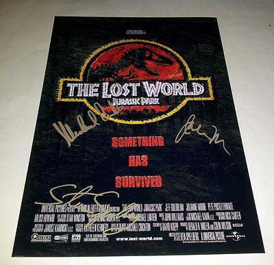 "JURASSIC PARK 2 THE LOST WORLD PP SIGNED 12""X8"" POSTER Steven Spielberg"