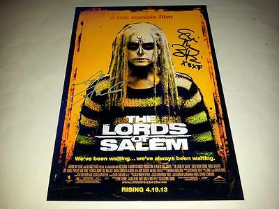"The Lords Of Salem Pp Signed 12""x8"" Poster Rob Zombie Sheri Moon"
