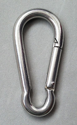 M8 Stainless steel Quick Link Carabiner Spring Snap Hook Clip 8mm SS016