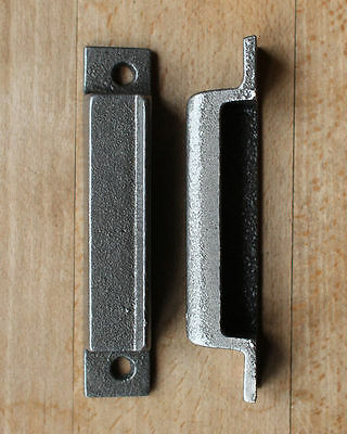 CAST IRON RIM LOCK DOOR KEEP 118mm ~ BRITISH MADE VICTORIAN RIMLOCK KEEPS ~ PK11